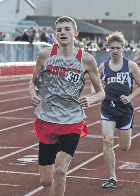 Twin Valley South's Kyle Saul helped the Panthers to a fifth straight Fred Durkle Invitational title on Friday, April 12.