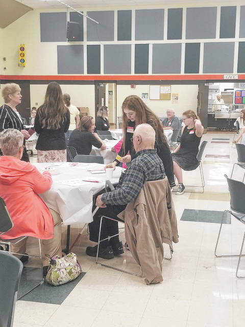 National Trail Local School District held its Senior Citizen Luncheon on Thursday, April 18. The luncheon was attended by 70 senior citizens, who were served by 20 FCCLA members and four Renaissance Club officers.