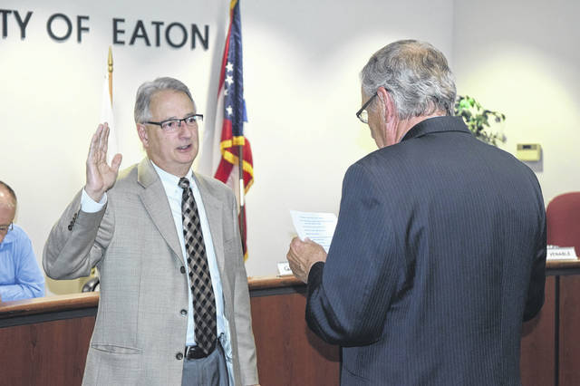 David Kirsch was sworn in to serve on Eaton City Council during a meeting on Monday, May 5.