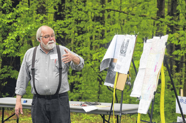 Preble County Earth Day was held on Thursday, May 2 at Wilderness Ridge at PVM Retreat Center. Approximately 500 students from all five school districts had an opportunity to learn about conservation of natural resources and taking care of planet earth. Doug Kramer is a land surveyor and the owner of Kramer and Associates in Eaton. He was a presenter at Earth Day and explained to the students how the original land surveyors in the country were also the first natural resources inventory that had been done in the Americas.