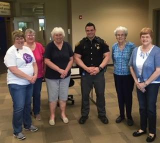 The Delta Omega chapter of Delta Kappa Gamma Society met at Edison State Community College's Preble County campus, in Eaton on Wednesday, May 8. Deputy Austin Snowden, School Resource Officer for National Trail Schools, was the guest speaker.