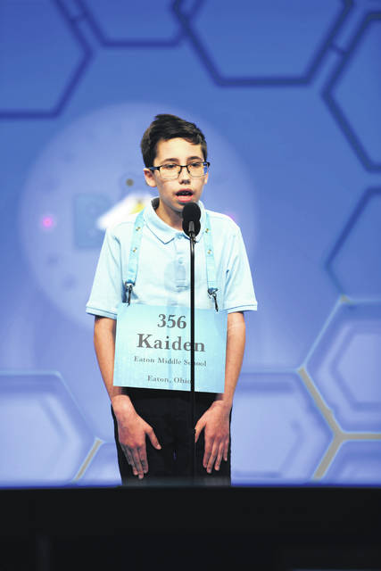 Eaton Middle School Student Kaiden Webb recently participated in the 2019 Scripps National Spelling Bee in Washington, D.C., held May 26-31. Webb made it through three rounds of the spelling competition, but did not score high enough on the preliminary test to proceed to the finals.