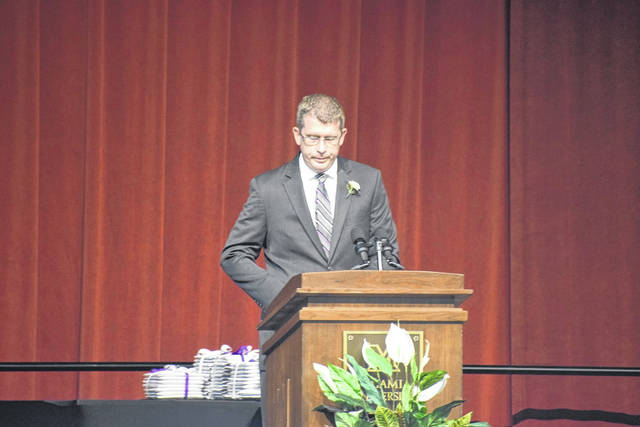 Principal Scott Couch recognized parents, families, and staff for their contribution to the graduates' lives.
