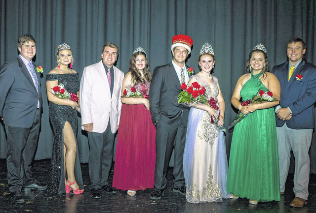 The 2019 Preble County Jr. Fair Court was crowned on Saturday, June 15. Pictured, left to right, Third Runner-Up King and Queen Benjamin Bitner and Logan Brooks, Second Runner-Up King and Queen Landon Owens and Madison Kesler, King and Queen Andrew Millhouse and Macel Stowers and First Runner-Up Queen and King Kelsie Shafer and Ty Stevenson.