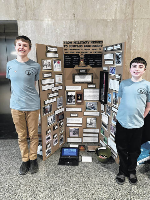 Tri-County North students Parker Williams and Devin Corrington recently competed in the National History Day Competition. The competition was held from June 9-13 at the University of Maryland, College Park. They won the Ohio Outstanding Entry award and an honorable mention.