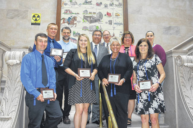 The Preble County Chamber of Commerce's Leadership Preble County program graduated its third class during a ceremony at the Preble County Courthouse on Tuesday, June 18. According to Preble County Chamber Director Leslie Collins, over the past three years, approximately three dozen individuals have completed this program.
