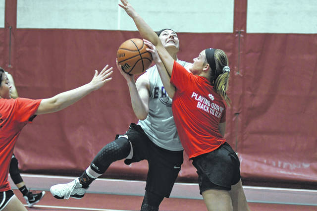 Eaton, National Trail and Twin Valley South's girls basketball teams have been competing in the Richmond Summer League on Tuesday evenings during the month of June honing their skills for the upcoming season. The league is just one of many, in a variety of sports, where county athletes are working on their games during the off season.