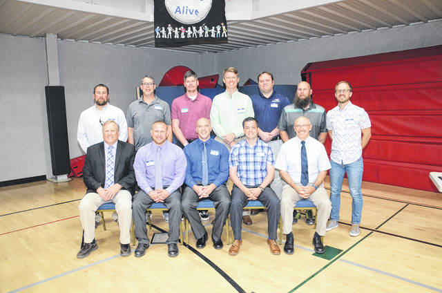 The 2000 Eaton's boys track team was inducted into the Preble County Athletic Hall of Fame on Sunday, May 26.