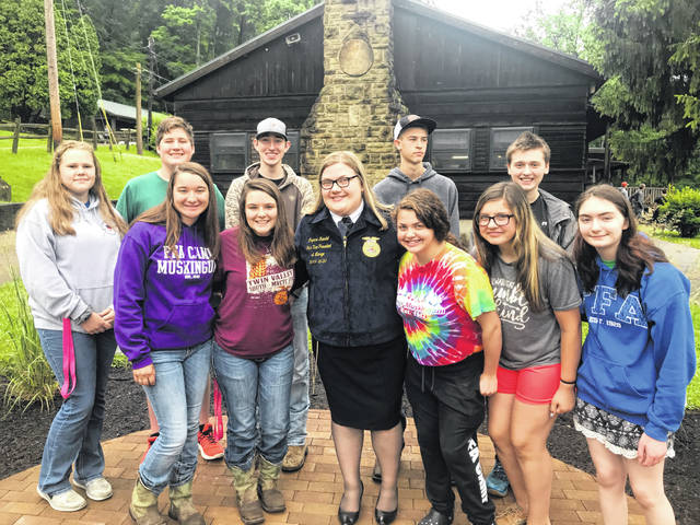 On June 17-21, the Twin Valley South Miami Valley Career Technology Center (MVCTC) FFA chapter attended FFA camp at Camp Muskingum.