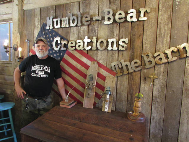 Blake Duffie's store, Mumble-Bear Creations, occupies a barn just north of Eaton, and is open by appointment throughout the year.