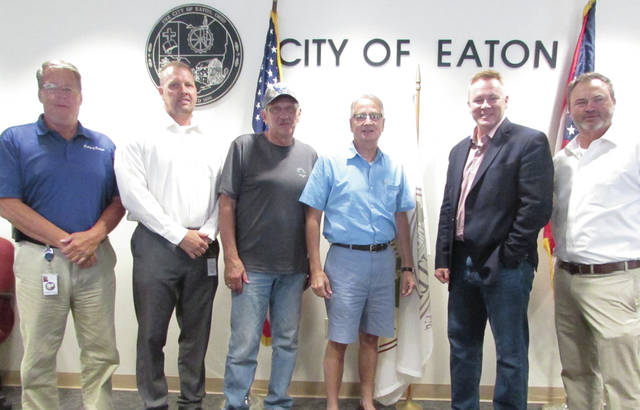 Ohio 8th District Representative Warren Davidson spoke with City of Eaton council members Monday afternoon about partisan politics in Congress, the national debt, and America's recent trade conflicts with China.