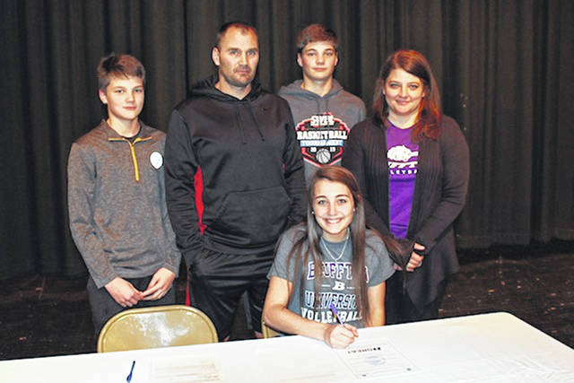 Kaylie Campbell will be attending Bluffton University to play volleyball. The Preble Shawnee grad, who was a four-year letter-winner, was first-team all-league and District 15 Division III Player of the Year this past season. Campbell said she is planning on majoring in Psychology or Criminal Justice. The Beavers, a NCAA Division III program, are a member of the Heartland Collegiate Athletic Conference.