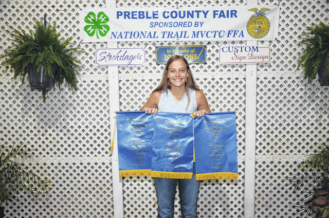 This year, at the Preble County Fair, Skyler Ward won Grand Showman for three different species: Sheep, Swine, and Beef. Before this year, Ward had never won a showmanship before, but in one year, she wins three.