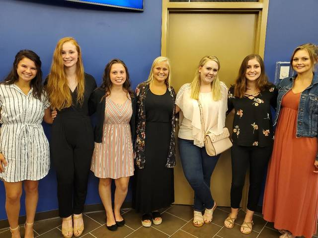 The Preble County Youth Foundation (PCYF) awarded seven scholarships to Kettering College students Cassidy Adkins, Brianna Wells, Sophia Cottingim, Cassandra Stinson, Lauren Spicer (Baker), Isabelle Heggs and Allison Zornes.