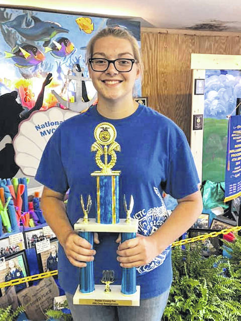 Abbey Rodefer of the National Trail Miami Valley Career Technology Center (MVCTC) FFA Chapter was named the 2019 Outstanding Crop Exhibitor at the Preble County Fair.