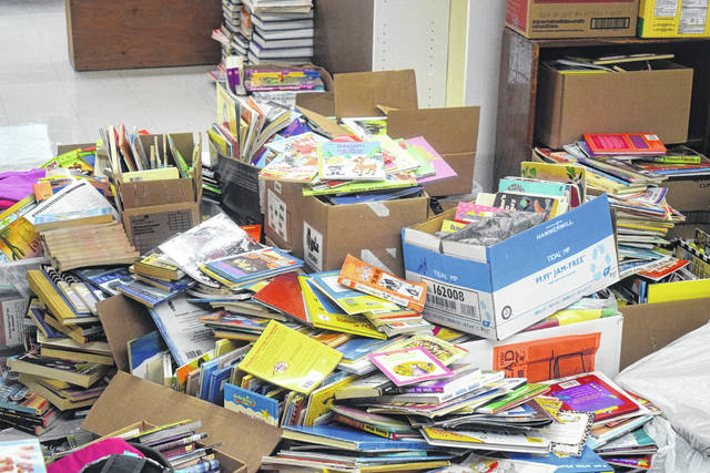 This is the first school year the Preble County Alternative School has a library within its building. While the library is not yet completed, students are still able to check books out from a collection completed by donations.