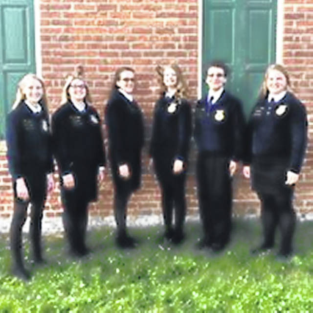 Pictured above are NT MVCTC FFA's new officers: Alyssa Zdobinski (left), Abbey Rodefer, Kacy Osswald, Haley Koehl, Mark Armstrong, and Sara Norton (right).