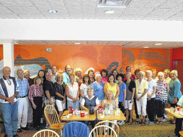 "Retired school personnel and friends from National Trail met on Aug. 20 for the annual ""NOT Back to School Breakfast."""