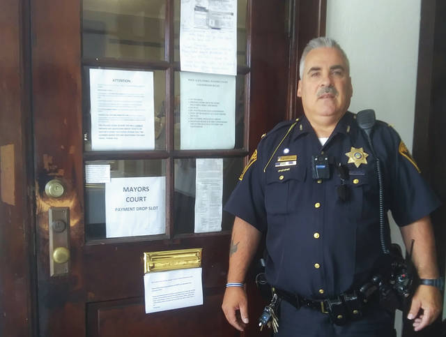 Police Chief Anthony Gasper expressed gratitude to numerous Preble County residents for their help in relocating the West Alexandria police department.