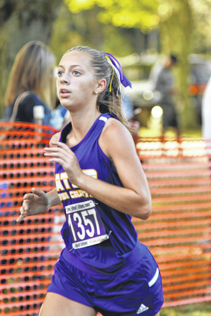 Eaton's Rylie Haynes finished 32nd at the Eaton Cross County Invitational on Saturday, Sept. 14, to help the Eagles to a fourth place finish.
