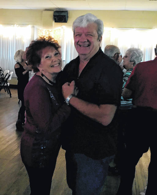 "Betty Huff and Ray Kidd ""cut a rug"" at a Thursday night dance."