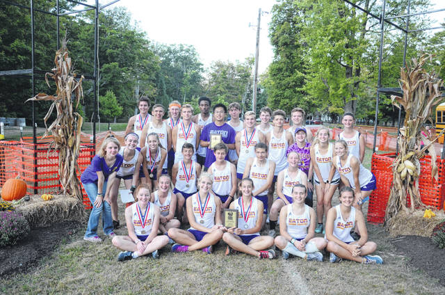 Eaton's boys and girls cross county teams claimed county titles last week.