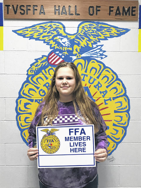 The Twin Valley South Miami Valley Career Technology Center (MVCTC) FFA chapter's 2019 September member of the month is Kassie Loveless.