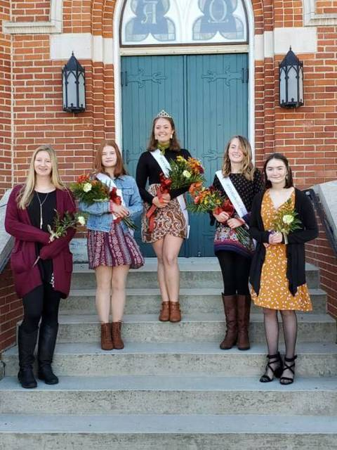 Pictured is Oktoberfest Queen, Liberty Chesney, along with all this year's contestants.