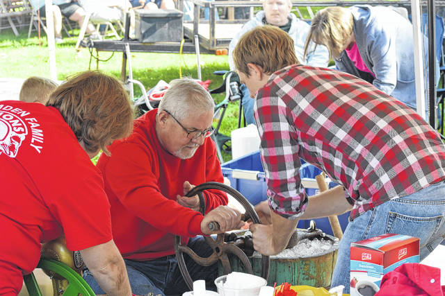 The Camden Family Lions Club's famous black walnut ice cream is always a treat during Camden's annual Black Walnut Festival.