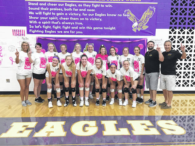 Eaton's volleyball team claimed an outright SWBL Southwestern Division title with a pair of wins last week. It was the first title for the Eagles since sharing with Bellbrook in 2015.
