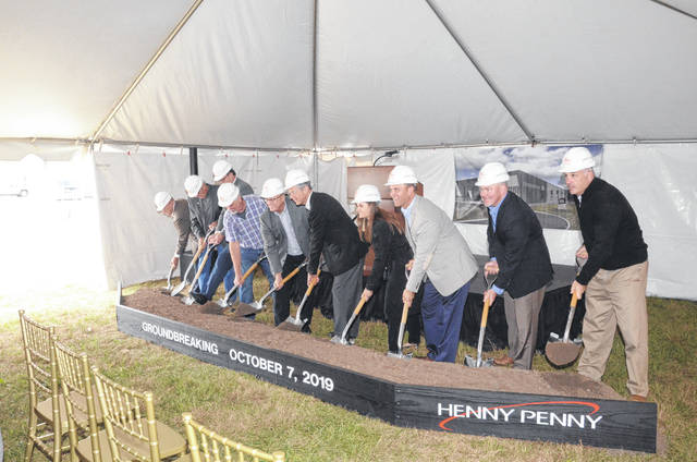 Henny Penny officials, local and state elected officials, and many community partners celebrated a groundbreaking for a planned 150,000 square foot expansion — and more — on Monday, Oct. 7.