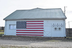 Barn painted to honor Veterans Day