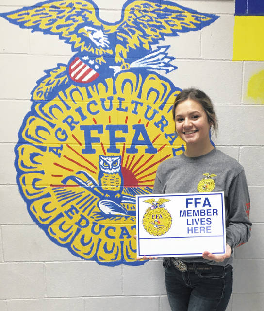 The Twin Valley South Miami Valley Career Technology Center (MVCTC) FFA Chapter's 2019 October member of the month is Kallen Pitz.