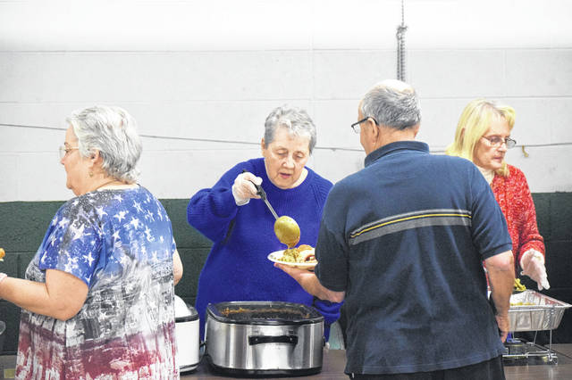 There were appoximately 280 meals delivered and 400 people served in person during the 2018 Community Thanksgiving Day Dinner at the Preble County Fairgrounds.