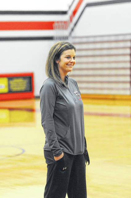 Tri-County North girls basketball coach Jessica Spitler is looking at the 2019-20 season as a rebuilding season. The Panthers have just nine players in the high school program and are coming off a 1-22 season.