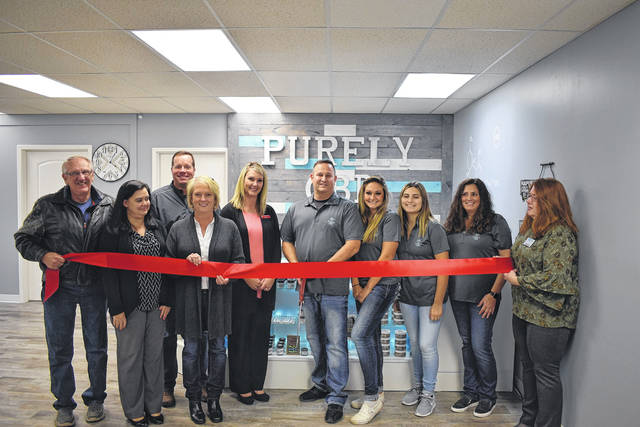 Purely CBD held its ribbon cutting ceremony in conjunction with the Preble County Chamber of Commerce on Tuesday, Dec. 3. The new store is located in Junction Village Mall at 538 N. Barron Street in Eaton.