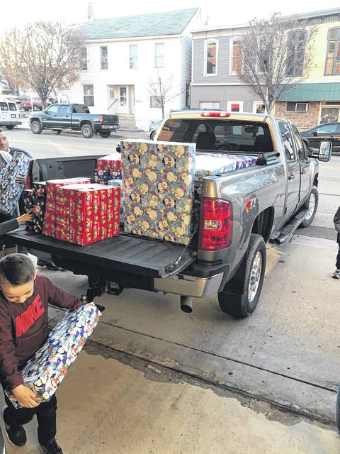 Lewisburg Container donated approximately 47 toys to the Village of Lewisburg on Saturday, Dec. 7.