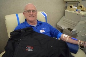 Eaton's Tom Eyer makes milestone 100th donation