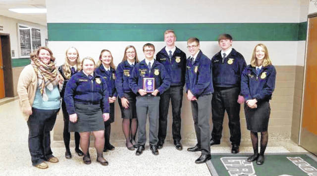 On Dec. 21 the Eaton Miami Valley Career Technology Center (MVCTC) FFA Advanced Parliamentary Procedure team competed at the state level in Columbus.