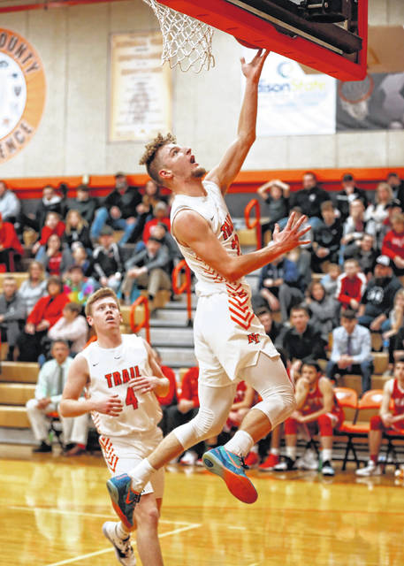 Zach Woodall scored 13 points for National Trail in the Blazers 81-40 win over Tri-County North on Friday, Dec. 20.