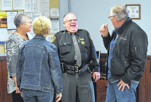 Major Joe Renner has retired from service at the Preble County Sheriff's Office after 38 plus years of full-time service. Renner was recognized in front of his peers and those he has loyally served on Monday, Jan. 6. There he was presented with many gifts, awards, and other items to honor and thank him for his dedication to both the organization and the Preble County community as a whole.