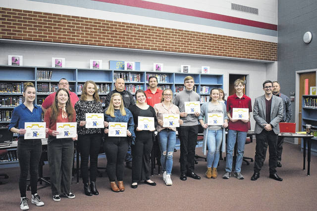 Twin Valley Community Local Board of Education recognized the following students for OMEA District 13 High School Band and Choir Solo and Ensemble superior ratings during its meeting on Monday, Feb. 24: Rachel Beeler, Class B Flute; Alli Class, Class C Clarinet; John Allen Coffman, Class C Trumpet; Maddie Henkes, Class C Snare Drum; Zoe Hicks, Class C Tuba; Mackenzie Jackson, Class C Flute; Nathan King, Class C Snare Drum; Gracie Sutton, Class C Euphonium; Amelia Wharton, Class C Horn.