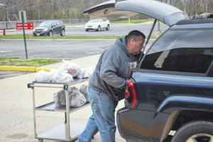 Twin Valley students pick up food