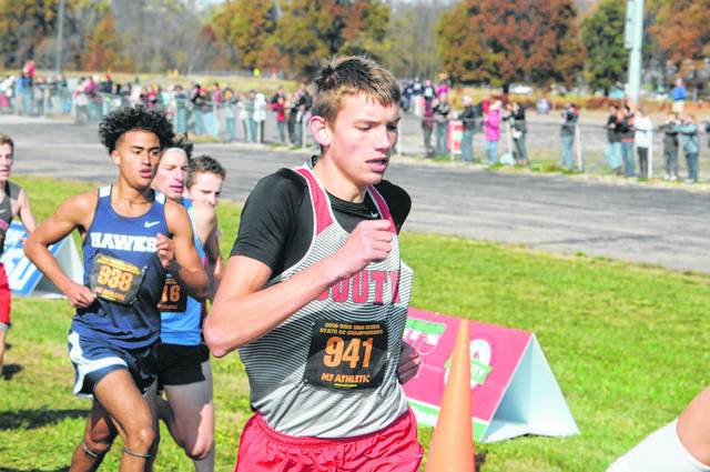 Twin Valley South senior Kyle Saul was the last county runner to compete at the state cross country meet at National Trail Raceway, which hosted the event for nine years, in November 2019.