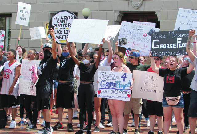 The protest in support of Floyd and Black Lives Matter was organized by Ashton Cira, a 19-year-old resident of Eaton. With protests over the last week drifting further out from big cities into smaller areas, Cira saw Eaton as a prime location to hold this demonstration.