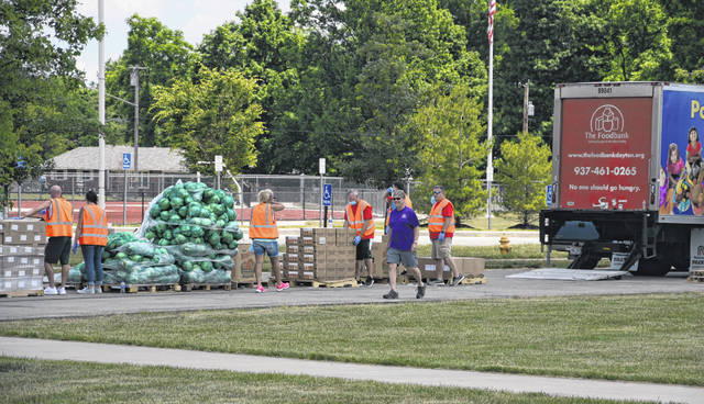 According to The Foodbank Inc. officials, 547 families received food during the distribution held on June 19 in Eaton.
