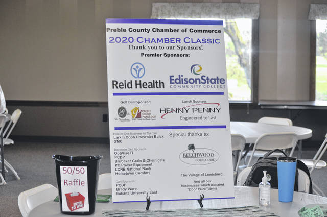 Multiple sponsors showed their support for the Preble County Chamber of Commerce