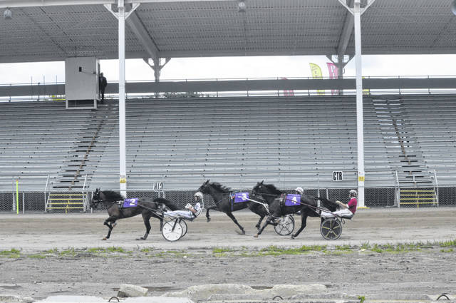 No spectators were allowed at the harness racing which took place on Sunday, Aug. 2.