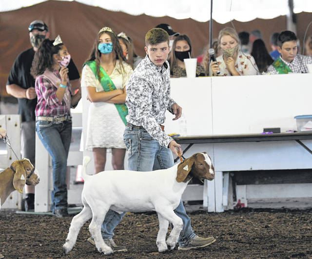 The 2020 Preble County Junior Fair Premium Goat Show was held on Sunday, Aug. 2. Jr. Fair Goat Showmanship and the Market Goat Show were scheduled for Monday, Aug. 3 and the Jr. Fair Breeding, Dairy & Exotic Goat Show is set for Wednesday.
