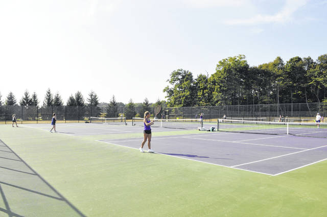 Eaton's new tennis complex has six available courts.